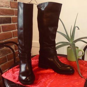 Joe Fresh Black Leather Riding Boot